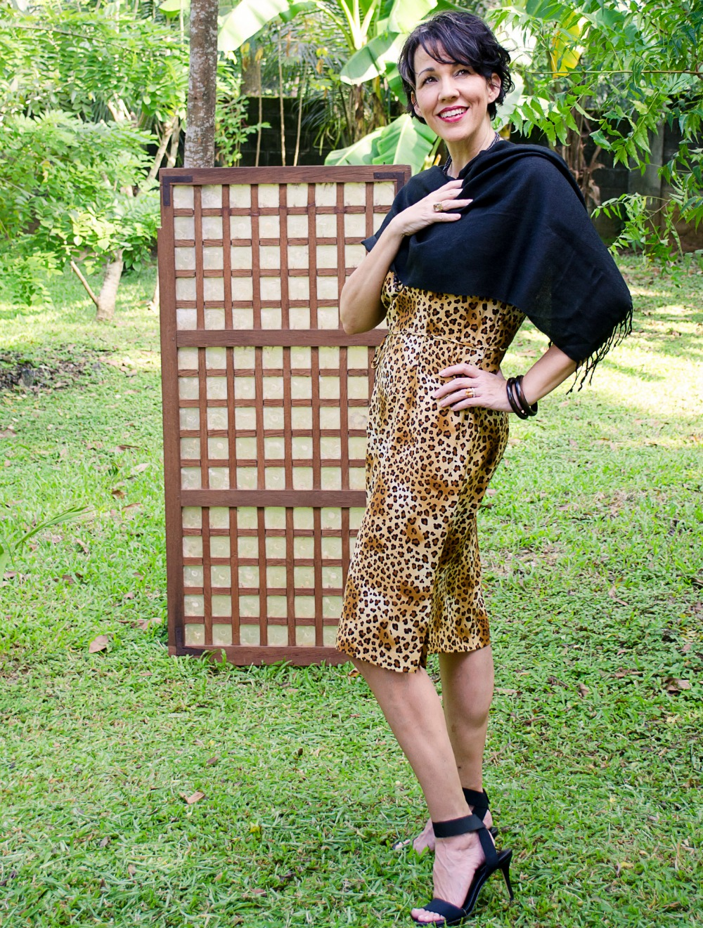 Shellie Bowdoin from the fabjourney.com in animal print