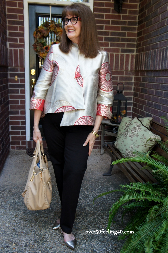 Fashion Blogger Pam Lutrell from over50feeling40.com