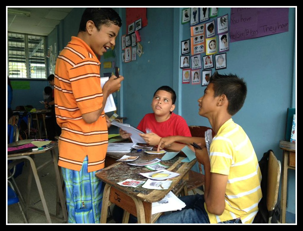 Students learning English in Costa Rica mysideof50.com