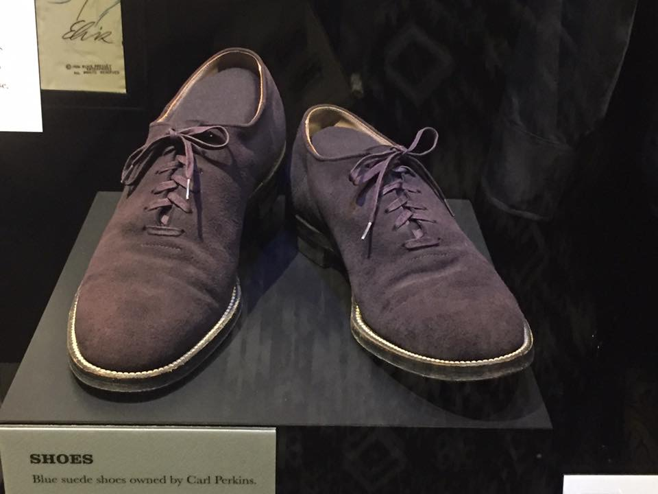 The Country Music Hall of Fame features Carl Perkin's Blue Sued Shoes