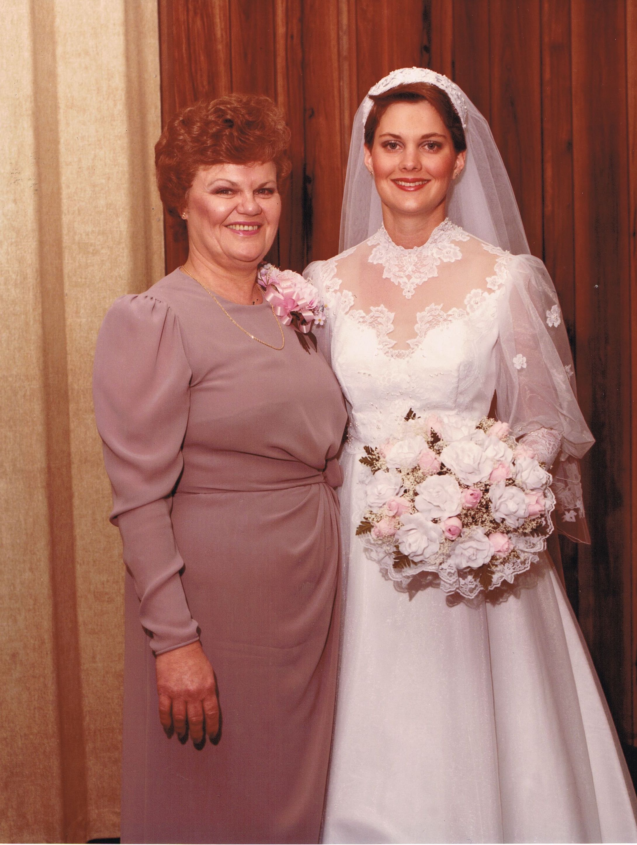 Author Cathy Lawdanski and her mom, Pat Lynch, April 14, 1984