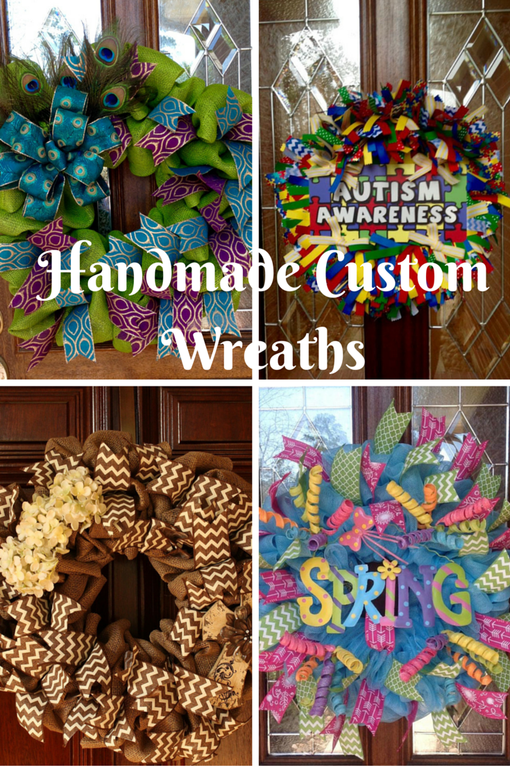 Handmade Custom Wreaths from Whimsical Wreaths by Amy