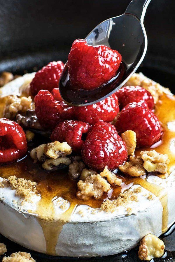 Raspberry and Walnut Baked Brie pairs perfectly with Small Hours Zinfandel
