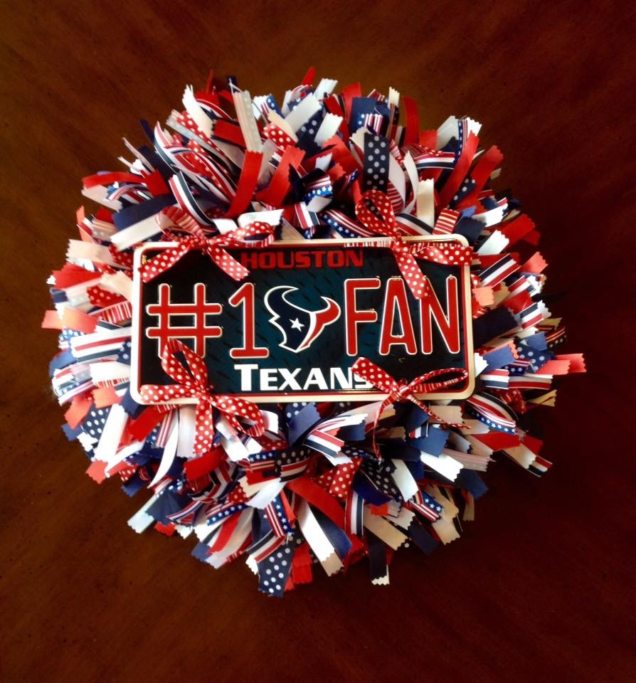 Houston Texans Ribbon Wreath from Whimsical Wreaths by Amy