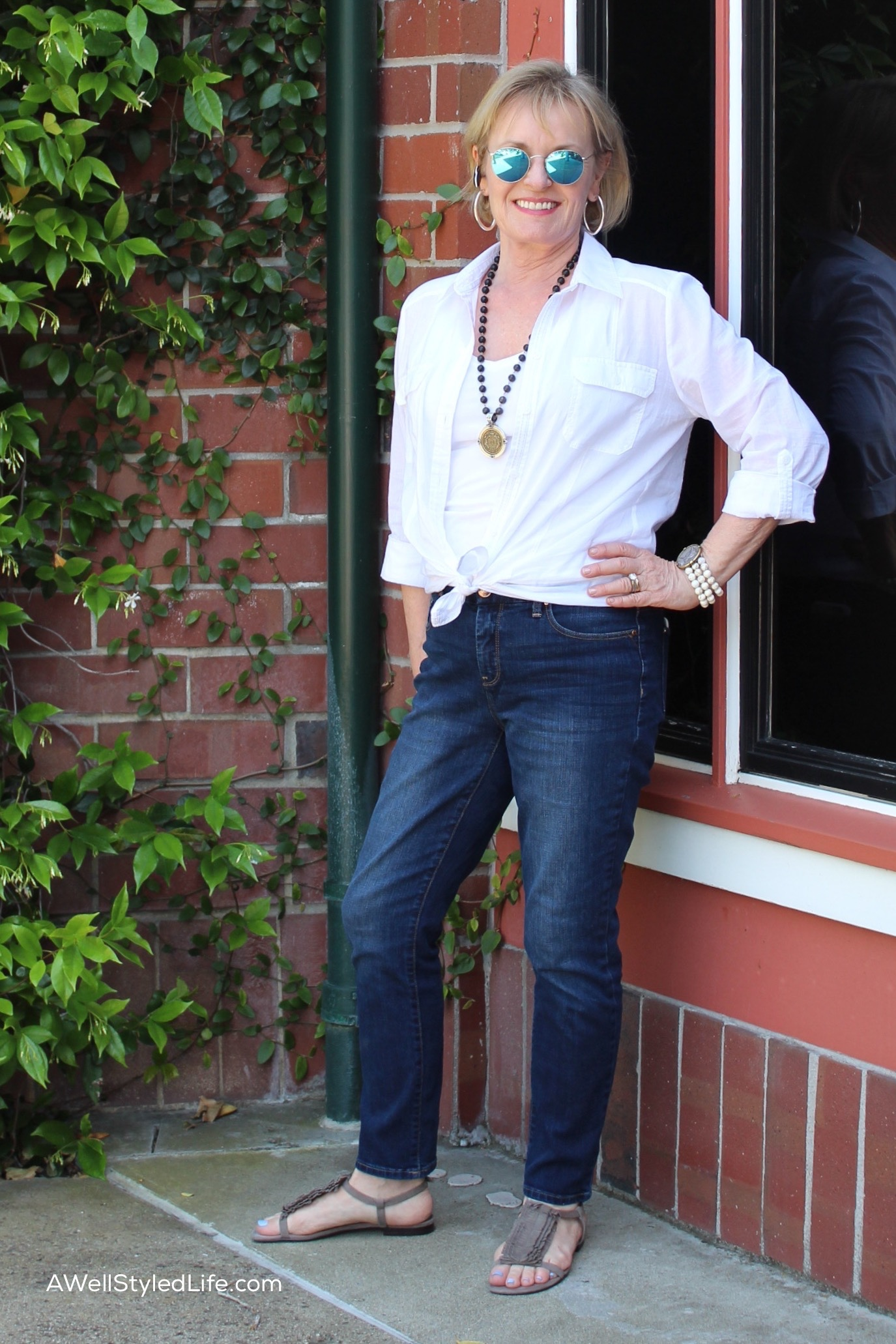 White Blouse styled by Jennifer Connolly - AWellStyledLife.com