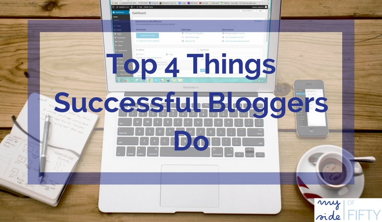 Top 4 Things Successful Bloggers Do. Have a goal. Evaluate their progress. Know what to eliminate. Work toward their goal efficiently.