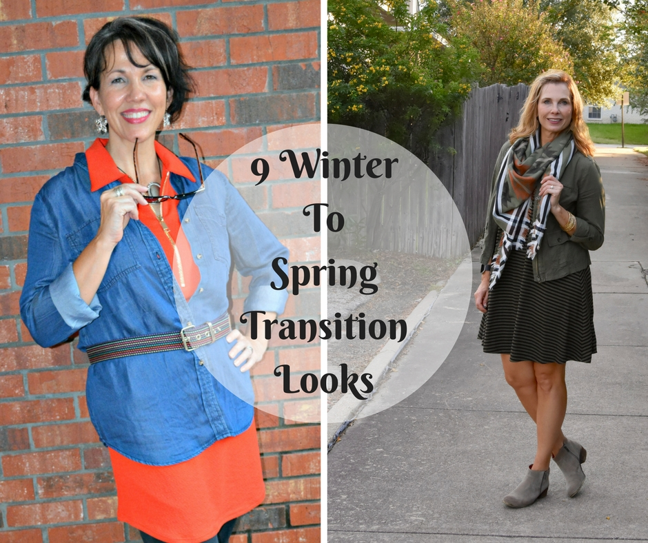 9 Winter To Spring Transition Looks from My Favorite Fashion Bloggers. Formerly Fun Fall Looks, but now with affiliate links to the looks to similar pieces at end of season prices!