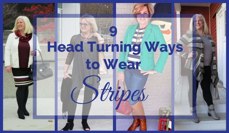 "9 Ways To Wear Stripes. Stripes are ""in"" for Spring 2017! See how 4 midlife fashion bloggers make stripes work for them in their flattering and on-trend looks!"