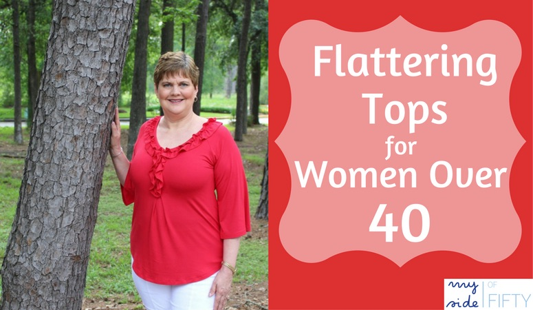 Flattering Tops for Women Over 40 by Covered Perfectly. 20% off with code MS20 or Buy 2 get the 3rd free