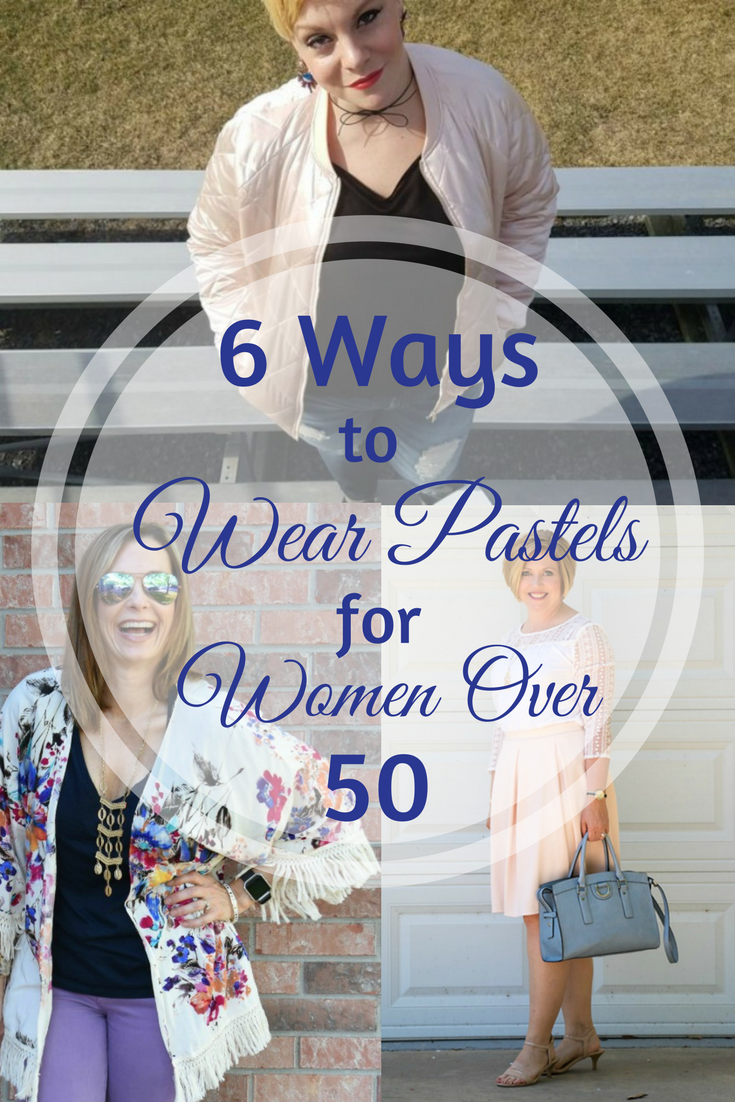 6 Ways To Wear Pastels For Women Over 50. Think you can't wear pastels over 50? Think again! See how these 6 Fashion Bloggers and stylish midlife women break the rules and come up with some fabulous looks!