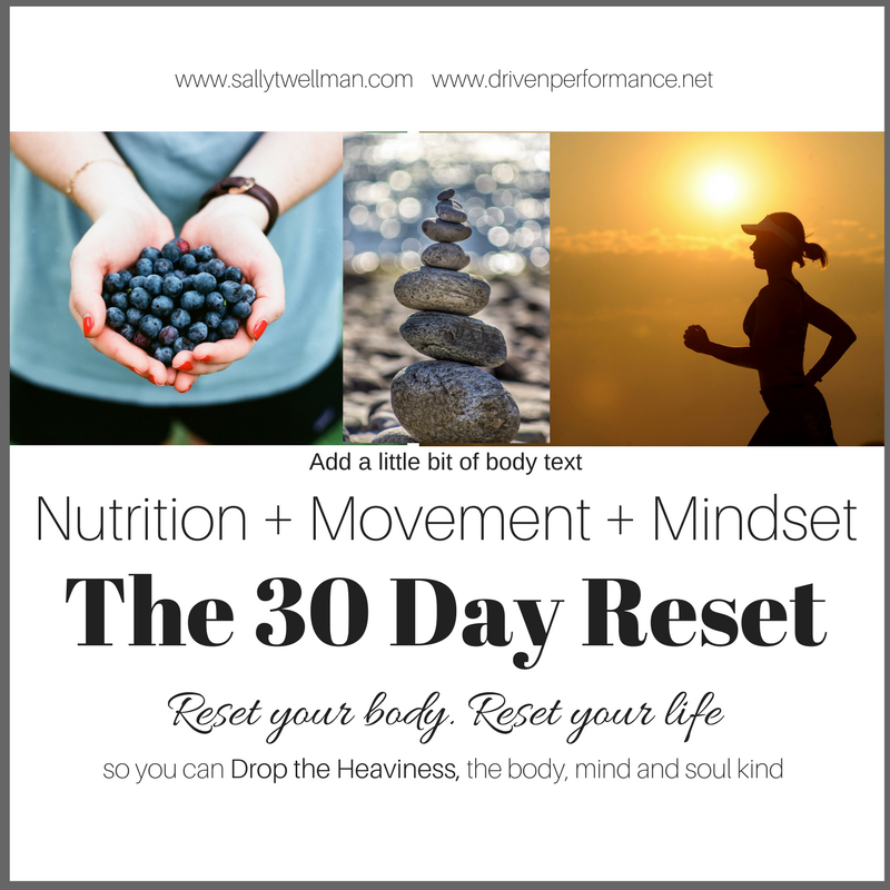 30 Day Reset | Drop the heaviness in body, mind & soul | nutrition+movement+mindset