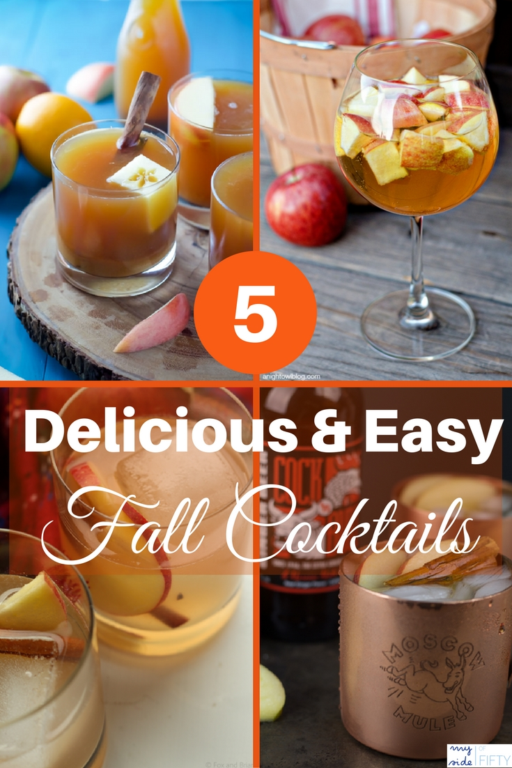 5 Delicious and Easy Fall Cocktails | Fall Cocktails for a Crowd | Fall Cocktail Recipes | Fall Cocktails Easy | Fall Cocktails Vodka | Fall Cocktails Bourbon