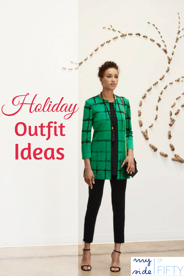 Effortless Elegance | Holiday Outfit Ideas from Misook | Machine-washable, fade resistant & wrinkle free knit attire in sizes XS-3X