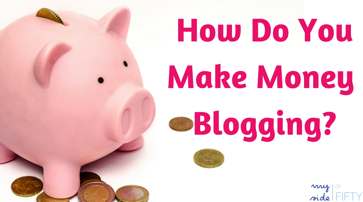 "Piggy bank with the caption ""How Do You Make Money Blogging?"""