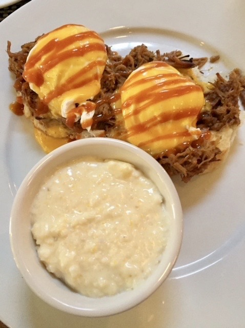 Picture of Pork Benedict and Grits