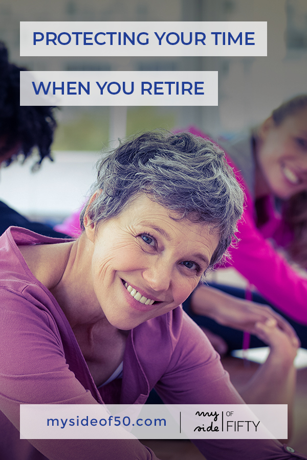 Time for You | Time Management In Retirement | Picture of Middle Aged Woman with short gray hair who is smiling