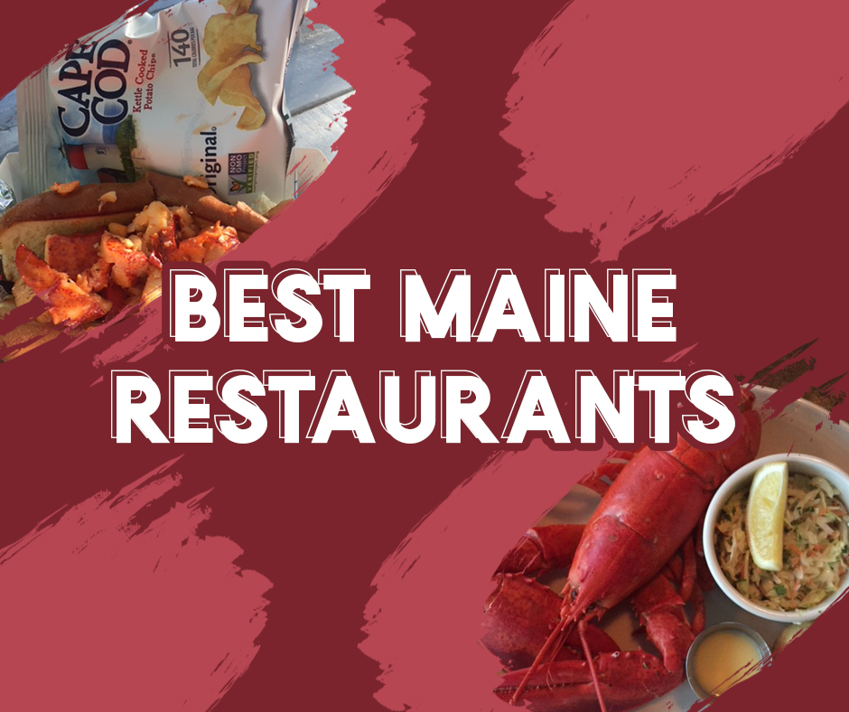 Best Maine Restaurants | Picture of Lobster Roll, Cape Cod Chips and Steamed Lobster