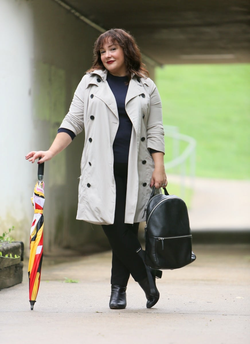 37310513ba7 Alie from Wardrobe Oxygen is wearing a Classic Trench from Universal  Standard